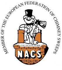 TM Warne chimney sweep in Leicestershire NEFCW badge